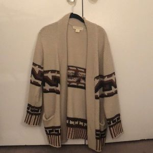 Urban outfitters tribal oversized cream sweater!